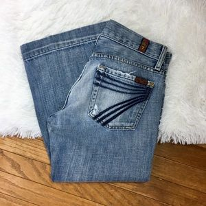 7 For All Mankind Jeans Dojo Crop Size 25